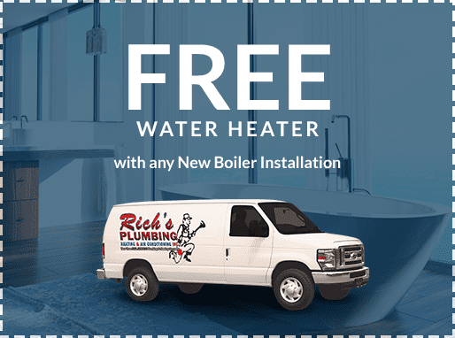 free water heater with any new boiler installation